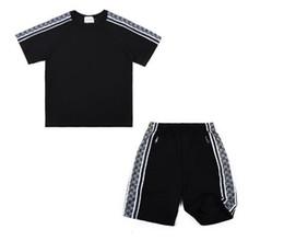 American Men Tracksuits UK - Brand Sport Set Men women Suits Summer 2PC Set Mens Stand Collar Fashion 2 Pieces T-shirt Shorts Tracksuit