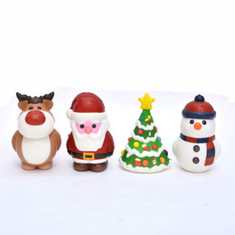 Wholesale trees roses resale online - Christmas Squishy Toy cm Santa Claus Snowman Xmas Tree Shaped Slow Rising Cream Scented Stress Relief Toy Novelty Items OOA7389
