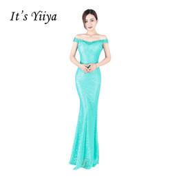 $enCountryForm.capitalKeyWord Australia - It's YiiYa Off Shoulder Sweetheart Satin Trumpet Prom Dresses Simple Flower Mermaid Floor Length Sexy Luxury Evening Gowns