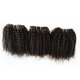 $enCountryForm.capitalKeyWord UK - afro hair Brazilian Virgin Human Hair double weft 8-12inch Factory wholsale and retail Indian European remy hair 6pc lot 300g lot