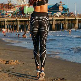$enCountryForm.capitalKeyWord NZ - Black White Fitness Printing Yoga Leggings Women Striped Legings Skinny Workout Sweatpants female sport tight pants plus size #157254