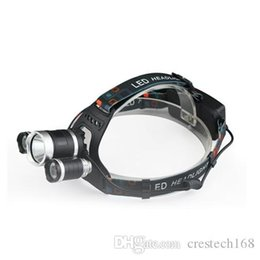 Crestech 6000Lm 3T6 Head Lamp Light 3-mode torch +2x18650 battery+ charger for fishing Lights 3T6 Headlamp on Sale