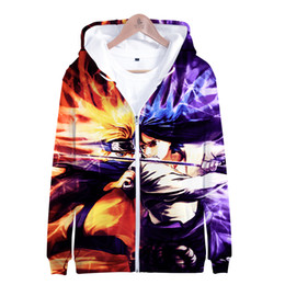 $enCountryForm.capitalKeyWord NZ - Latest Hot Anime 3D Naruto Zipper Hoodies Men Women Personality Harajuku Youth 3D Zipper Naruto Comics Sweatshirt Coolest Hoodie