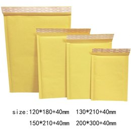 $enCountryForm.capitalKeyWord UK - 10Pcs Set Mailing Bags Yellow Kraft Paper Bubble Envelope Bag Moistureproof High Quality Self Seal Shipping Bags Drop Shipping