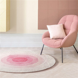 Round Bedside Tables Australia - Simple Round carpet mousse cute girl pink bedroom bedside study dressing table sofa mat coffee table carpet floor mat Parlor decoration