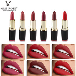 Nude lip stick online shopping - Matte Lipstick Waterproof Long Lasting Lip Stick Mate Nude Makeup Cosmetic Korean Lipstick Pigmented Make Up for Lips