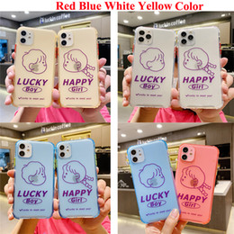 Wholesale boy dirt for sale – custom Transparent Shockproof Frame Case Boy Girl For iPhone11 Pro Max XR XS Max S Plus X Full Body Soft TPU Phone Back Cover
