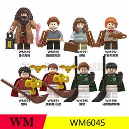 Harry Potter Blocks Australia - Harry Potter Minifig ABS Blocks Building Toys Rubeus Hagrid Hermione Granger Minifigs Doll 4.5CM Ron Weasley Bricks WM6045 Kids toys