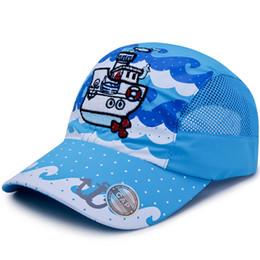 ba6cfeb86cbf8 Sports Hats Cartoon UK - Summer Hat Fast Dry Mesh Sports Net Cap for  Children Printing