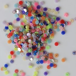 $enCountryForm.capitalKeyWord Australia - 4 5 6mm Half Paste Sunflower Pearl Beads Flat Back Cabochons 3D Nail Art Hair Embellishment Craft Christmas Decorations 10000pcs