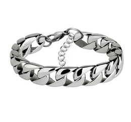$enCountryForm.capitalKeyWord UK - Men's Wristands Bracelet & Bangle 2019 Christmas Gift Stainless Steel Bracelet Silver Color Link Wheat Double Chain Jewelry Dro