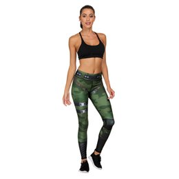 Ladies Gym Trousers Australia - Women Leggings Camouflage Green Hero 3D Graphic Print Girl Skinny Stretchy Yoga Wear Pants Lady Gym Fitness Pencil Fit Soft Trousers