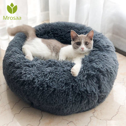 Kennel products online shopping - Long Plush Super Soft Pet Round Bed Kennel Dog Cat Comfortable Sleeping Cusion Winter House for Cat Warm Dog beds Pet Products