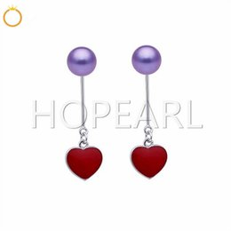 $enCountryForm.capitalKeyWord Australia - earring blank without pearl red heart dangle 925 sterling silver jewelry diy for girls and women