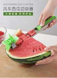 Cutter Fruit Watermelon Australia - Hot Sale Watermelon Slicer Cutter Stainless Steel Knife Corer Tongs Windmill Watermelon Cutting Fruit Vegetable Tools Kitchen Gadgets