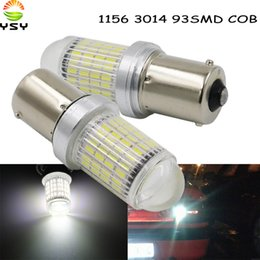 Acura Autos Australia - YSY 2pcs NEW Car styling 1156 BA15S 93 SMD 3014 P21W LED car Auto DRL Tail Side Indicator Lamp Brake Lights Bulb Auto White