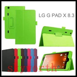 case f Australia - Magnetic Folio Stand Flip Leather Case Cover for LG G Pad Gpad X 8.3 F 8.0 G Pad2 10.1 V940