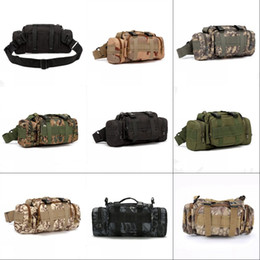 TacTical messenger casual online shopping - Casual Tactical Waist Pack Male Multifunction Single Shoulder Bag Camouflage Bags Mountaineering Cycling Hiking Portable New Arrival sl O1