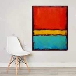 $enCountryForm.capitalKeyWord Australia - 1 Piece Rothko Still Life Classical Oil Painting Drawing Art Spray Unframed Canvas Wall Pictures For Living Room No Frame