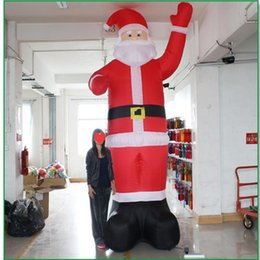 night garden party decorations NZ - HAUSBAY Inflatable Santa Claus Night Light Figure Outdoor Garden Toys Christmas Party Decorations for Home New Year 120cm 180cm 300cm 1.2M