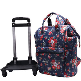 3804e3194 Women Travel Trolley Bags travel Backpack with wheel Rolling luggage  trolley backpack waterproof Oxford Rolling Baggage Suitcase