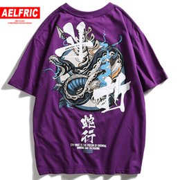 chinese letter print shirt NZ - Aelfric Chinese Letter Print Fashion Short Sleeve 2018 New Design T-shirts Male Harajuku Tshirt Casual Streetwear Tops Tee Kj343 J190528