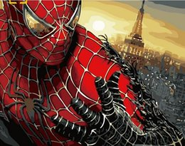 """Painting Rooms House Australia - 40x50cm """"Spiderman"""" nordic photos paint by numbers wall art paintings for the living room, artistic decoration for the house, hand-painted"""