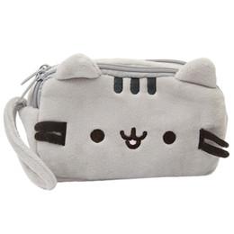 $enCountryForm.capitalKeyWord Australia - Cat Pencil Case Coin Purse Cute Plush Pen Bag Makeup Pouch Kid Stationery Gift Clutch Female Porte Monnaie