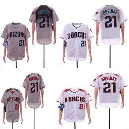 da09c64a6 Men s Arizona 21 Zack Greinke Jerseys 44 Paul Goldschmidt Red Black Purple  Baseball Jersey