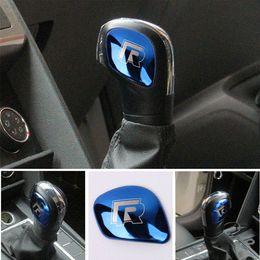 $enCountryForm.capitalKeyWord NZ - AEING Car Gear Shift Knob Gear Head Cover R Symbol Stickers for VW Volkswagen Golf 7 MK7 Golf 5 6 Passat B5