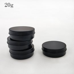 Cream ointment paCkaging online shopping - 100pcs g Black Empty Aluminum Jars Refillable Cosmetic Bottle Ointment Cream Sample Packaging Containers Screw Cap