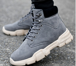 boots and workwear UK - Autumn Winter 2019 new retro high-top men's Martin boots workwear men's shoes European and American casual men's leather boots