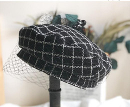 $enCountryForm.capitalKeyWord Australia - Tweed plaid beret is a new fashion trend for women in the classic British vintage painters hats