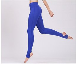 Discount design yoga pants - Ladies Sports Wear Latest Design Fitness Running Yoga Wear Pure Color Fit Tight Trouser Women Foot Yoga Pants