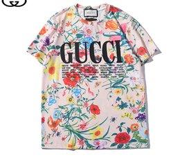 2019 T-shirt à manches courtes col rond T-shirt Kanye West imprimé sportswear
