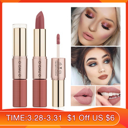 Lipstick Chose Australia - O.TWO.O 2 in 1 Matte Lipstick +Lip Gloss Lips Makeup Cosmetics Waterproof 12 Colors Choose