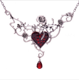 $enCountryForm.capitalKeyWord Australia - Halloween Red Peach Heart Rose Necklace Christmas Foreign Trade Hot Products