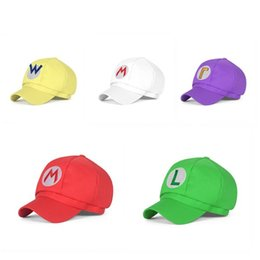 $enCountryForm.capitalKeyWord Australia - children Super Mario Cotton Caps hat 5 colors Anime Cosplay Halloween Christmas Costume Buckle Hats Adult and kid Hats Cap