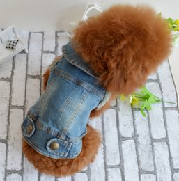 Small rounded hat online shopping - 2020 pet dog clothes pet autumn and winter clothing retro scratch pattern personality denim vest