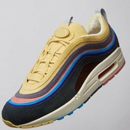 Hybrid Box NZ - Sean Wotherspoon Mens Running Shoes For Men Multi Hybrid Sports Designer shoes Women Sneakers Trainers Chaussures Size 36-45 With Box Bag