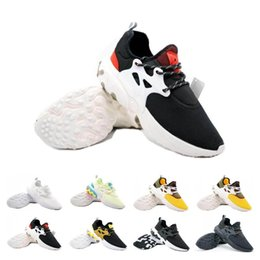ShoeS flat feet men online shopping - New Sale Presto Mid Epic React Men Women Running Shoes Comfortable Foot Feel Mesh Breathable Sneakers Black White Casual Shoes