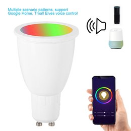 Discount video light e27 - NEW WiFi Smart Light Bulb GU10 E27 RGBW 6W LED Dimmable Light Cup Compatible with Alexa&Google Home Remote Bulb