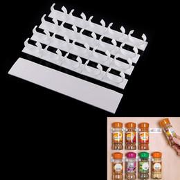 $enCountryForm.capitalKeyWord UK - 4 Sets 20Racks Kitchen Clip Strips Spice Gripper Jar Rack Storage Holder Wall Cabinet Door