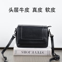 Packaging Ladies Handbag Australia - Charm2019 Pattern Woman Package Head Layer Cowhide Small Fang Bao Ma'am Single Shoulder Cool Time Genuine Leather Handbag