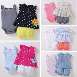 Infant Girl Romper Sets Australia - Newborn Baby Girl Clothes Set Sleeveless T-shirt Tops+romper+shorts 2019 Summer Outfit Infant Clothing New Born Suit Fashion Y19050801