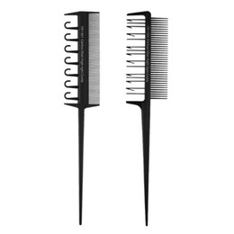 Professional Hair Weave UK - Cheap Combs 2 Side Hair Dyeing Comb Adjustable Sectioning Highlight Comb Weaving Cutting Brush Professional Salon Hair Coloring Styling