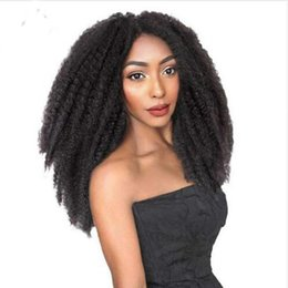 "synthetic afro hair sale NZ - Hot Sale 18"" 3 Packs Afro Marley Braid Hair Extensions Kinky Curly Bulk Twist Crochet Braids for Girl Women Afro Kinkys Hair Havana Braids"