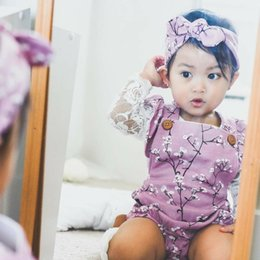$enCountryForm.capitalKeyWord Australia - 2019 Brand Newborn Baby Girls Flowers Bodysuit Princess Dress Ruffle Tutu Jumpsuit Headband Outfit Cute Sunsuit Baby Clothes