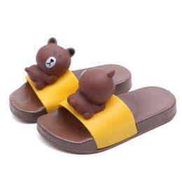 $enCountryForm.capitalKeyWord Australia - Cute Cratoon Tridimensional Little Bear Slippers for Boy Girl Kids Sandals 2019 Summer Toddler Indoor Baby Non-slip Soft Bottom Slippers PVC