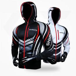 Großhandel 2019 Fishing Kleidung Langarm-Jacke Sunproof Breathable Coat Hiking Shirt Fischen Jersey Klettern Kleidung